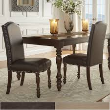 parisian nailhead upholstered dining chairs set of 2 by inspire q clic