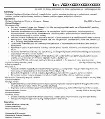 nutritionist cover letter entry level dietitian resume sample entry level resumes livecareer