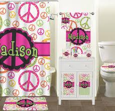 Peace Sign Bathroom Decor Amazon Peace Sign Bathroom Accessories Set Personalized 1