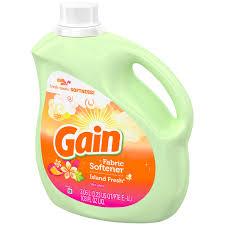 How Much Fabric Softener To Use Gain Island Fresh Liquid Fabric Softener 103 Fl Oz Plastic Jug