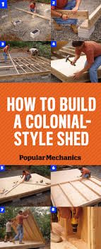how to build a front doorHow to Build a Shed  Colonial Storage Shed Plans