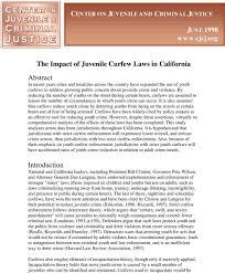 Juvenile Curfew Laws in California ...