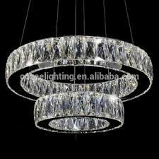 modern led crystal ring chandelier lamp stainless steel cristal for new household crystal ring chandelier ideas