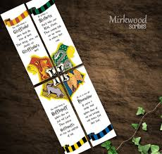 harry potter bookmarks hogwarts houses bookmarks party favors intended for harry potter house bookmarks