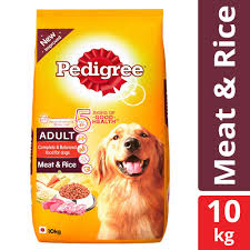 Pedigree Adult Dry Dog Food Meat And Rice 10 Kg Pack At Best