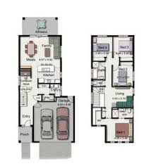 House plan for narrow block   Dom   House   Pinterest   House    Byron Floor Plan Suits a narrow block of land