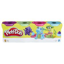 Набор из <b>4</b> баночек <b>пластилина</b> Плей-До (в асс) <b>Play</b>-<b>Doh Hasbro</b> ...