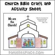 Small Picture Church Coloring Page Bible school crafts Vacation bible school