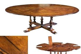 amish round dining table extra large solid walnut expandable round dining table with self storing leaves