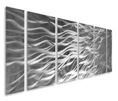 dozens of curvy abstract bands make their way across this six aluminum panel grouping creating abstract metal wall artmetal  on creating metal wall art with abstract by ash carl metal wall art in rainbow 23 5 x 60 by all