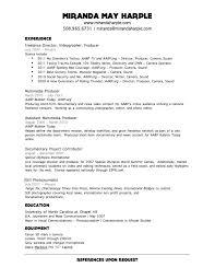 Videographer Resume Videographer Resume Sample Sample Resume For Subway Sandwich Artist