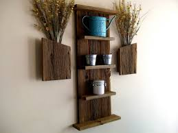Image of: DIY Wooden Wall Shelves