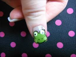 Cute Frogs Nail Art Design for