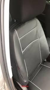 black leather tailored full set seat