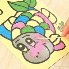 Colored Sand Painting Drawing Toys Sand Art Kids Coloring DIY Crafts ...