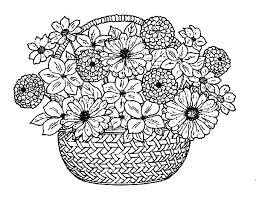 Flower Coloring Pages Printable Spring Flowers Hard Small Of F