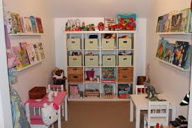 ... Exquisite Arrangement Interior For Cute Playroom Ideas : Astounding  Wall Mounted White Wooden Bookshelf And Brown ...