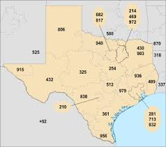 Area Code Chart In Numerical Sequence List Of Texas Area Codes Wikipedia