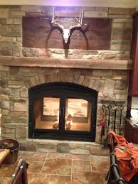 the kitchen side of the fireplace