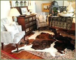 furniture round cowhide rugs rug black brown cow hide skin great classroom as white cowhid