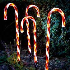 Light Up Garden Candy Canes Home Garden 4 Light Up Candy Cane 52 Or 62cm Garden Path
