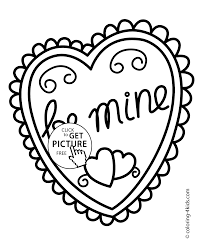 Small Picture day Heart coloring pages for kids printable free