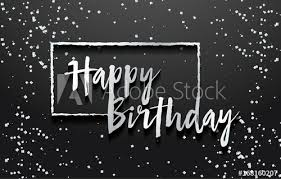 Happy Birthday Background Greeting Logotype For Card Flyer Poster