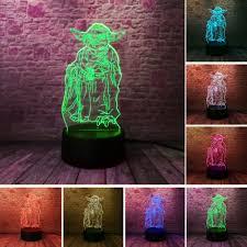 <b>Star Wars 3D</b> Bulbing Lamp <b>Led</b> Master Yoda Leader Vision ...