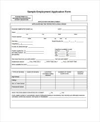 Generic Blank Job Application Generic Employment Application Template 8 Free Pdf Documents