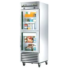 glass front refrigerator residential clear door for freezer
