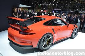 porsche 2015 gt3 rs. 2015 porsche 911 gt3 rs rear three quarter view at geneva motor show gt3 rs