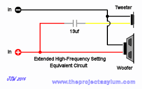 advent speaker crossover schematic diagrams advent speaker crossover extended high frequency setting equivalent circuit schematic