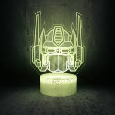 Knight Light Lamp Us 4 03 21 Off 3d Led Usb Lamp Transformers Face Head Mask Decoration Last Knight 7 Colors Change Night Light Boy Car Toy Gift Ornament Blubing In