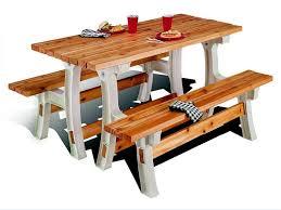 kids wood picnic table