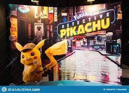 Bangkok, Thailand - Apr 25, 2019: Pokemon Detective Pikachu Animation Movie  Backdrop Display in Movie Theatre Editorial Photo - Image of advertisement,  design: 146228131