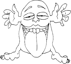 Cute Monster Coloring Pages Getcoloringpagescom
