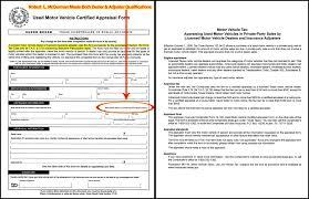 Vehicle Appraisal Form Texas Comptroller Motor Vehicle Certified Appraisal Vehicle Value 13
