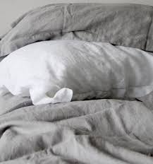 linen duvet cover set dove grey