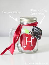 Decorating Mason Jars With Ribbon Teacher Gift Ideas Monogram Mason Jar Vase Free Chalkboard 92