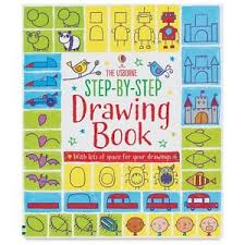 image is loading the usborne step by step drawing book 529536