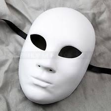Blank Face Masks To Decorate Plain White Blank Decorating Craft Full Face Masquerade Mask 28