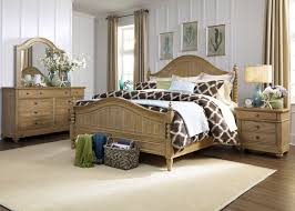 Liberty Furniture Bedroom Furniture Harbor View 4 Piece Poster Bedroom Set In Sand