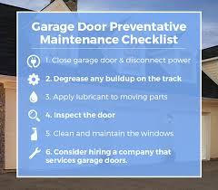 garage door preventative maintenance plan