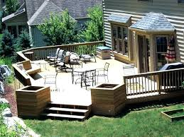 wood deck cost. Wood Deck Patio And Ideas Outdoor Design Chic . Cost