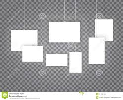 Paper Frames Templates Blank Hanging Photo Frames Or Poster Templates Isolated On