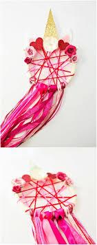 diy unicorn valentine dreamcatcher
