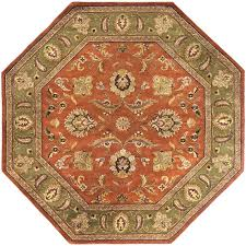 artistic weavers grafton dark rust wool 8 ft octagon area rug