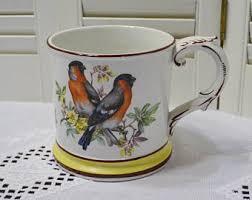 Vintage Mottahedeh Oversize Cup Mug Birds Inspirational Quote Large Size Decorative  Mug Italy PanchosPorch