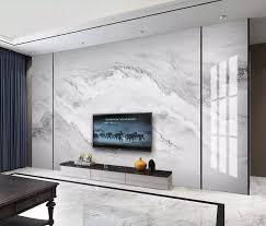 Grey White Marble Wallpaper Mural Large ...
