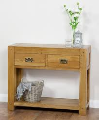 oak hall console table. Quercus Solid Oak Furniture Range Hallway | Hall / Console Table Land Www L
